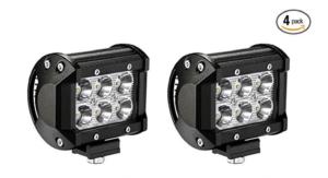 LED Light Bar YITAMOTOR 4PCS 18W 4 Inch