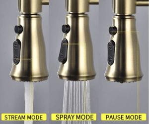 SHAMANDA Brass Kitchen Faucet High Arc Spring Stream
