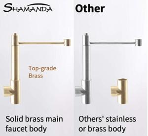 SHAMANDA Brass Kitchen Faucet High Arc Spring construction